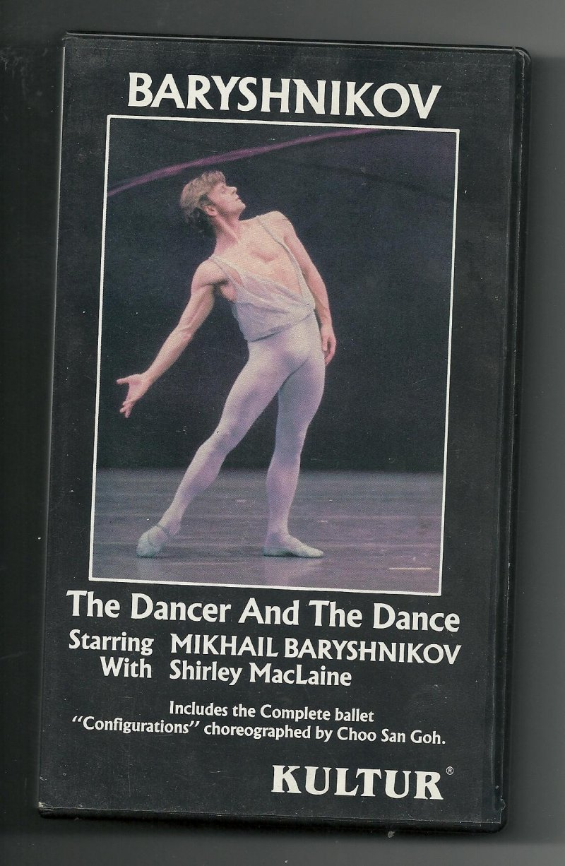 Image 0 of Baryshnikov The Dancer and The Dance VHS Video Tape