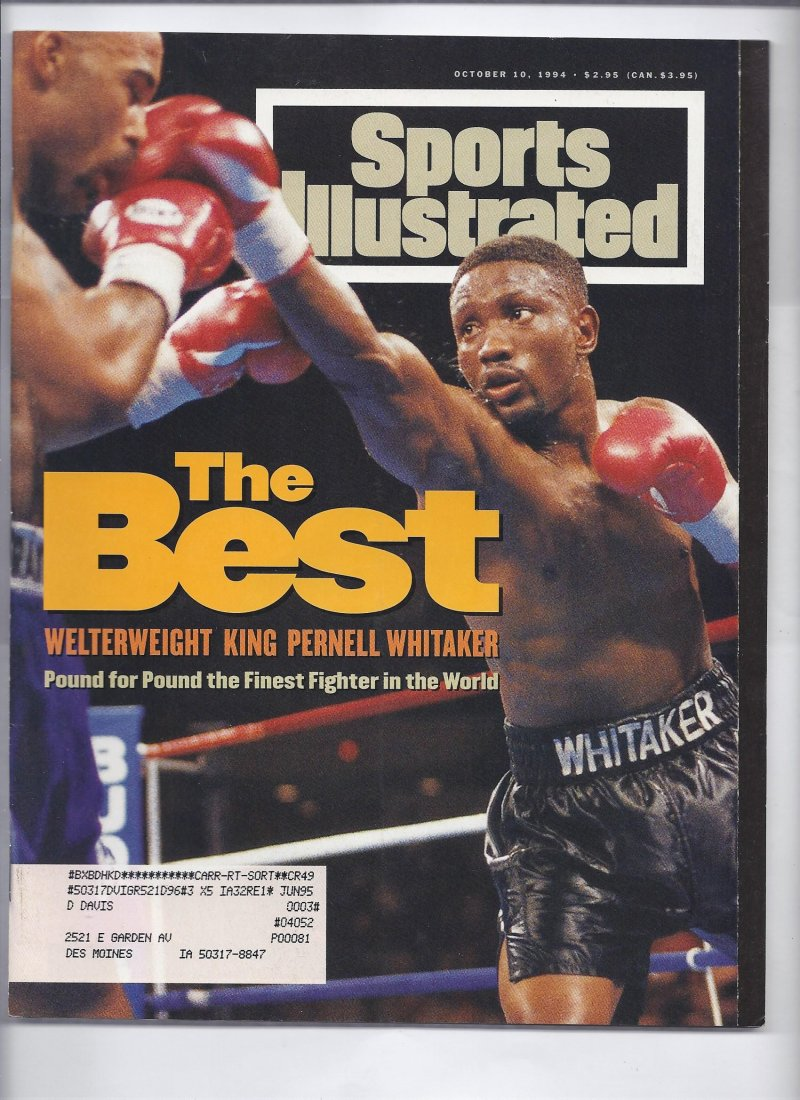 Image 0 of 1994 sports illustrated Magazine October 10th Pernell Whitaker Boxing