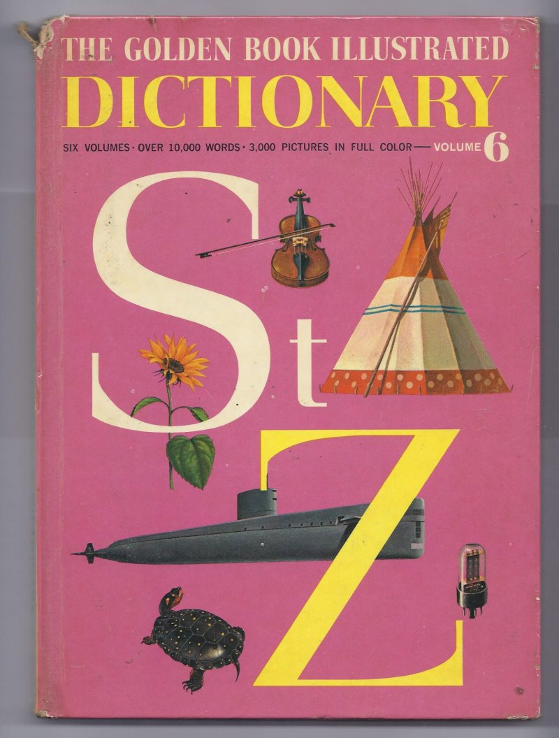 Image 0 of 1961 The Golden Book Illustrated Dictonary Volume 6 Book