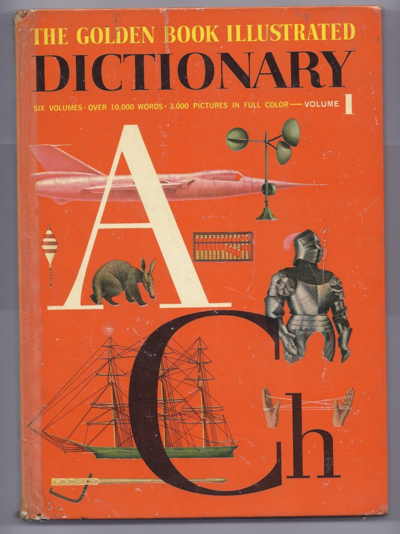 Image 0 of 1961 The Golden Book Illustrated Dictonary Volume 1 Book