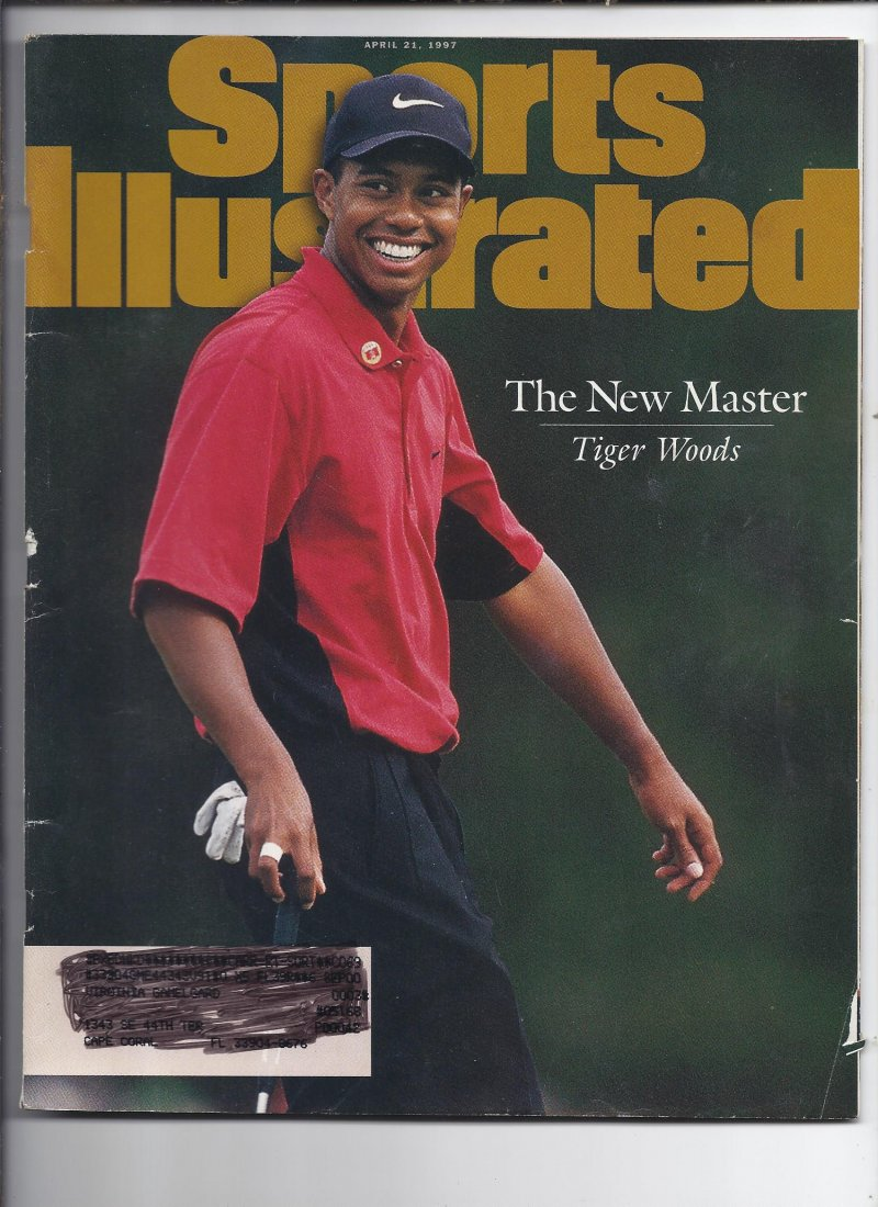 Image 0 of 1997 Sports Illustrated Magazine April 21st Tiger Woods Wins 1st Masters