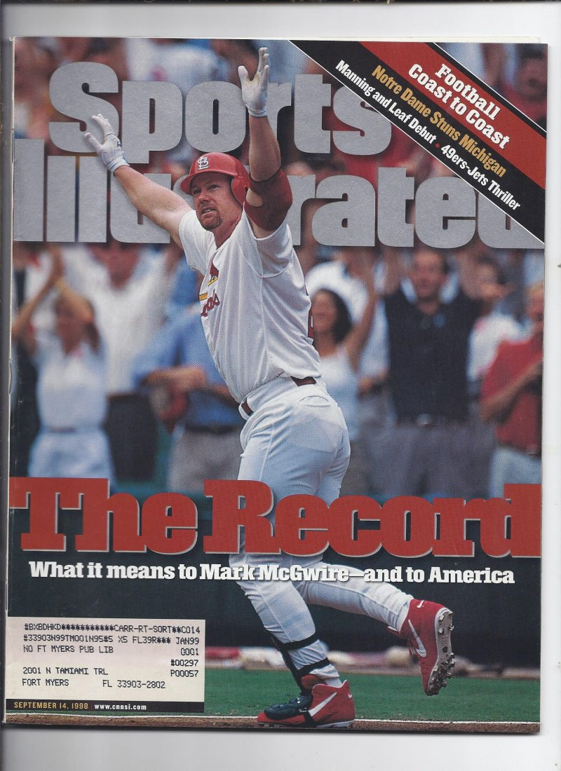 Image 0 of 1998 Sports Illustrated Magazine September 14th Mark McGwire HR Record