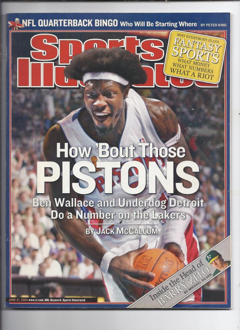 Image 0 of 2004 SI Sports Illustrated Magazine June 21st Pistons NBA Champions