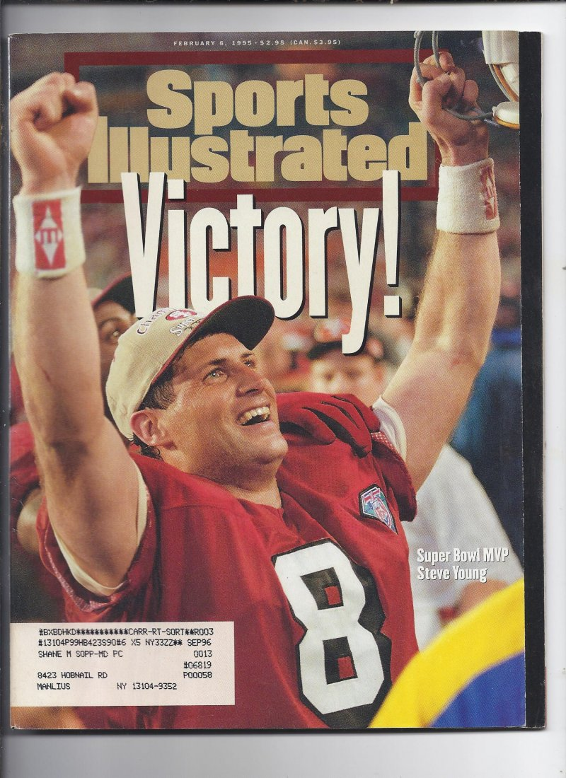 Image 0 of 1995 Sports Illustrated Magazine February 6th 49ers Super Bowl Champions