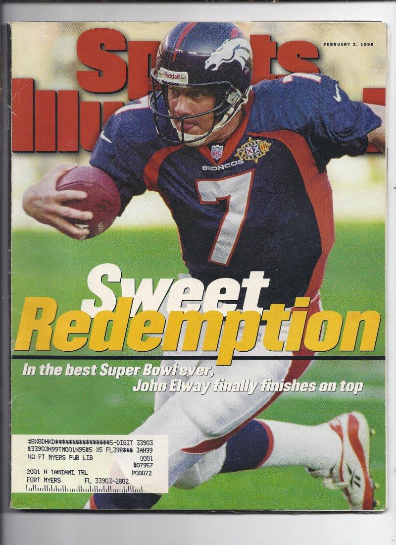 Image 0 of 1998 Sports Illustrated Magazine February 2nd Broncos Win Super Bowl Elway