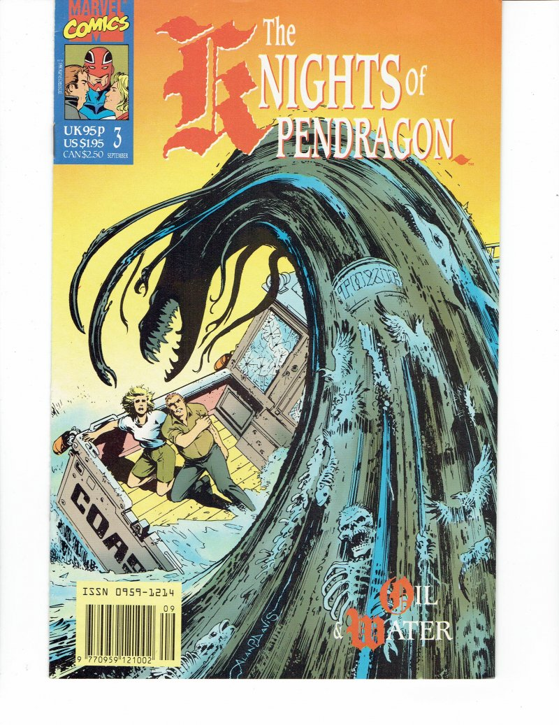 Image 0 of The Knights of Pendragon #3 Oil and Water Sept 1990 Marvel Comics UK
