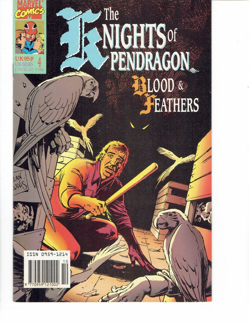 Image 0 of The Knights of Pendragon #4 Blood And Feathers Oct 1990 Marvel Comics UK