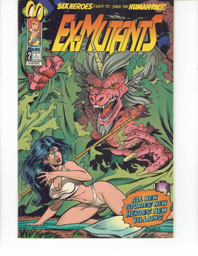 Image 0 of Ex-Mutants #2 December 1992 Malibu Comics