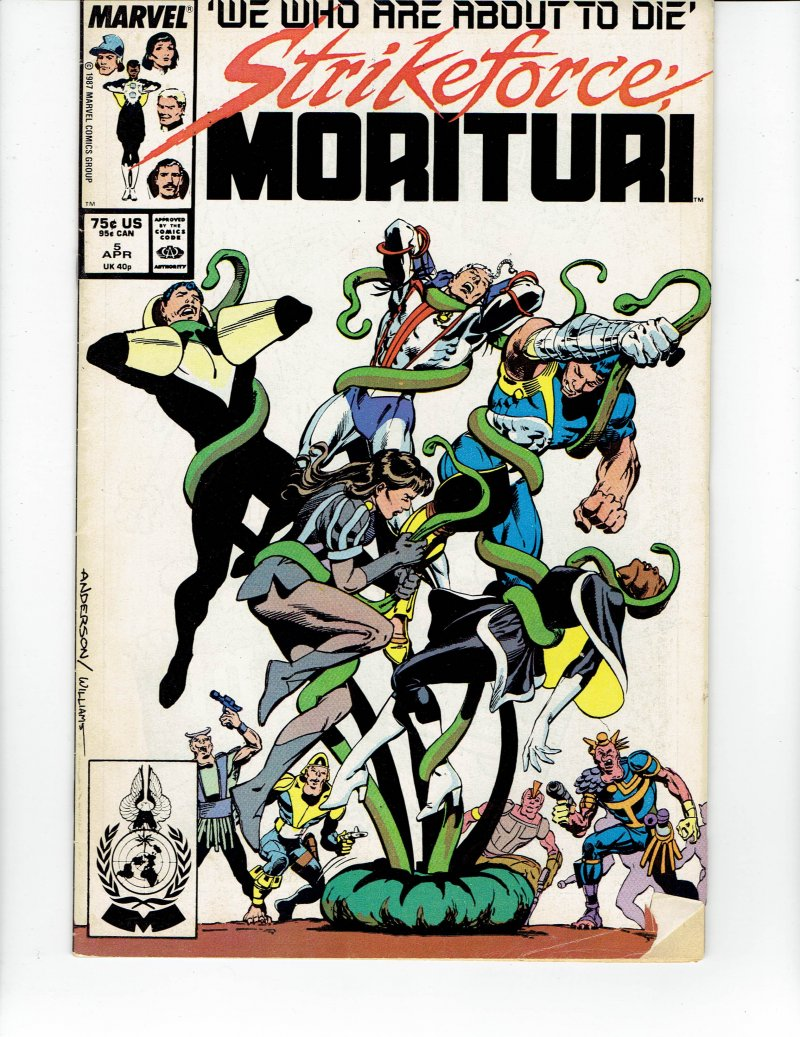 Image 0 of Strikeforce Morituri #5 April 1987 Marvel Comic