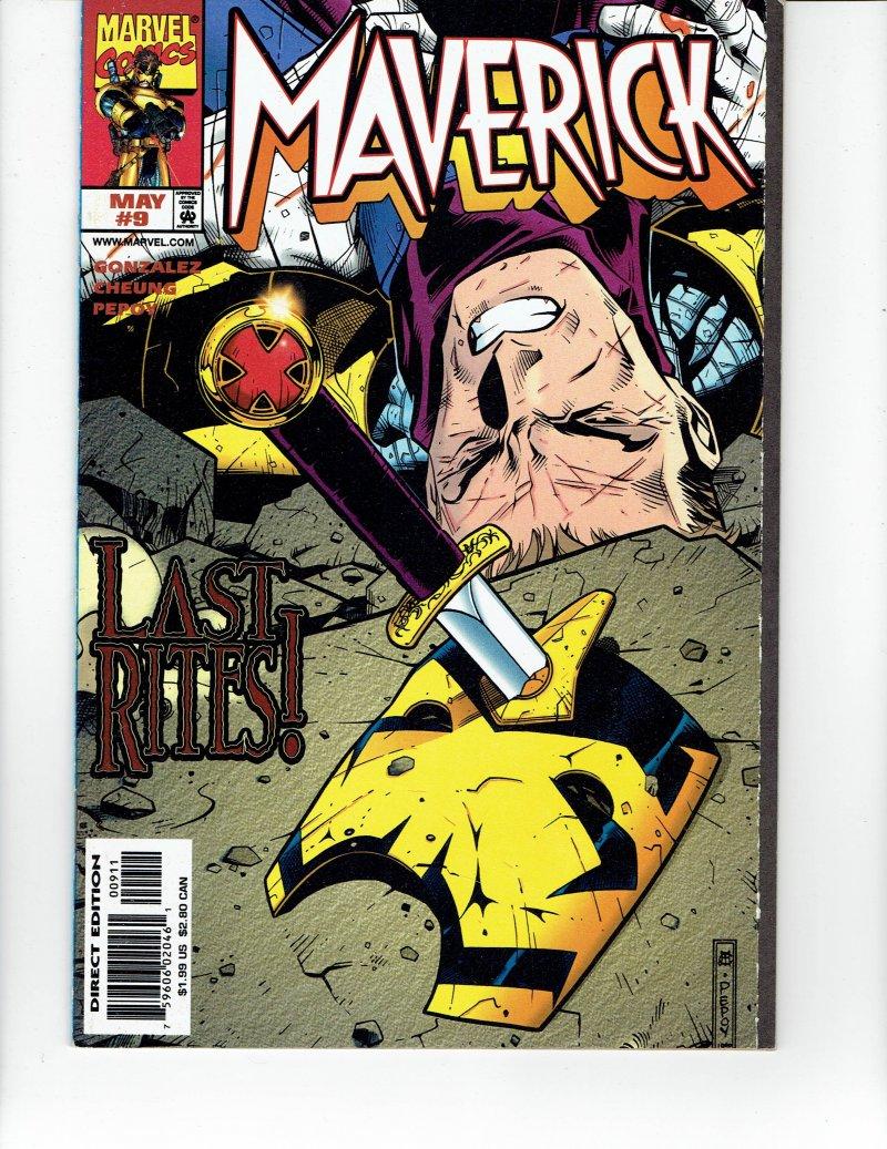 Image 0 of Maverick #9 Last Rites May 1998 Marvel Comic