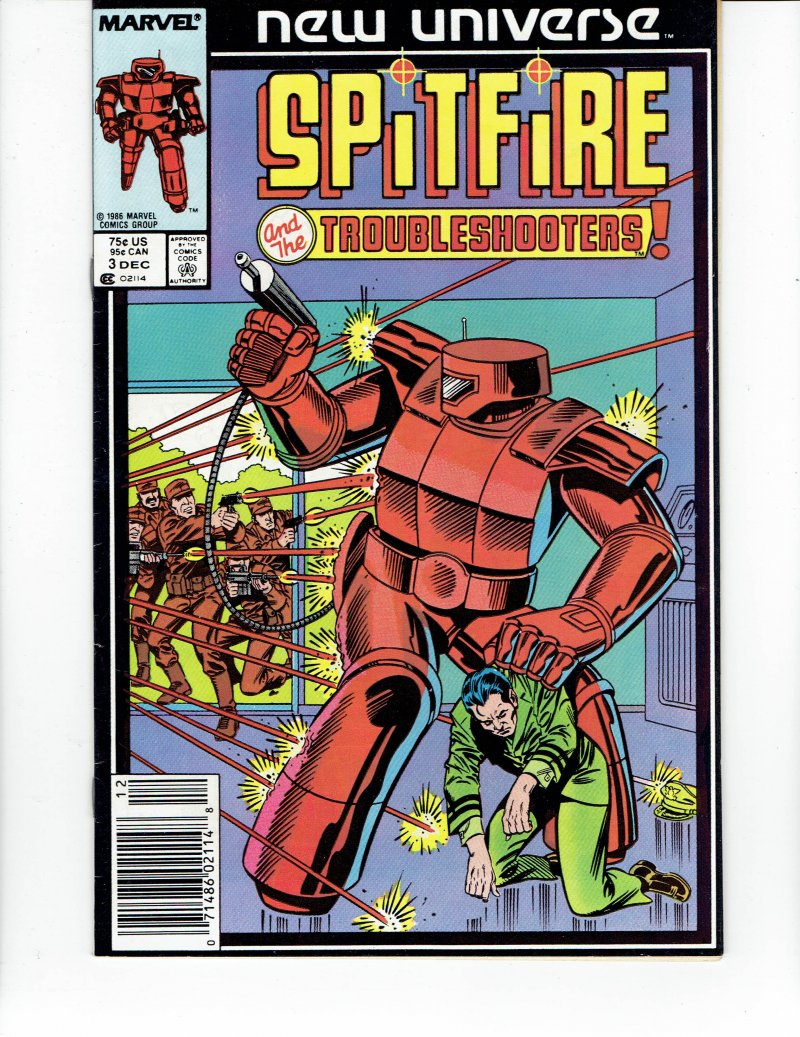 Image 0 of Spitfire And the Troubleshooters #3 Dec 1986 Marvel Comic