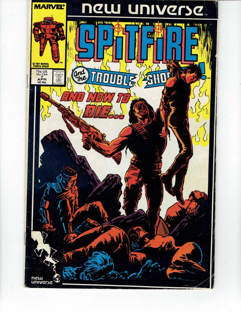 Image 0 of Spitfire And the Troubleshooters #7 April 1987 Marvel Comic