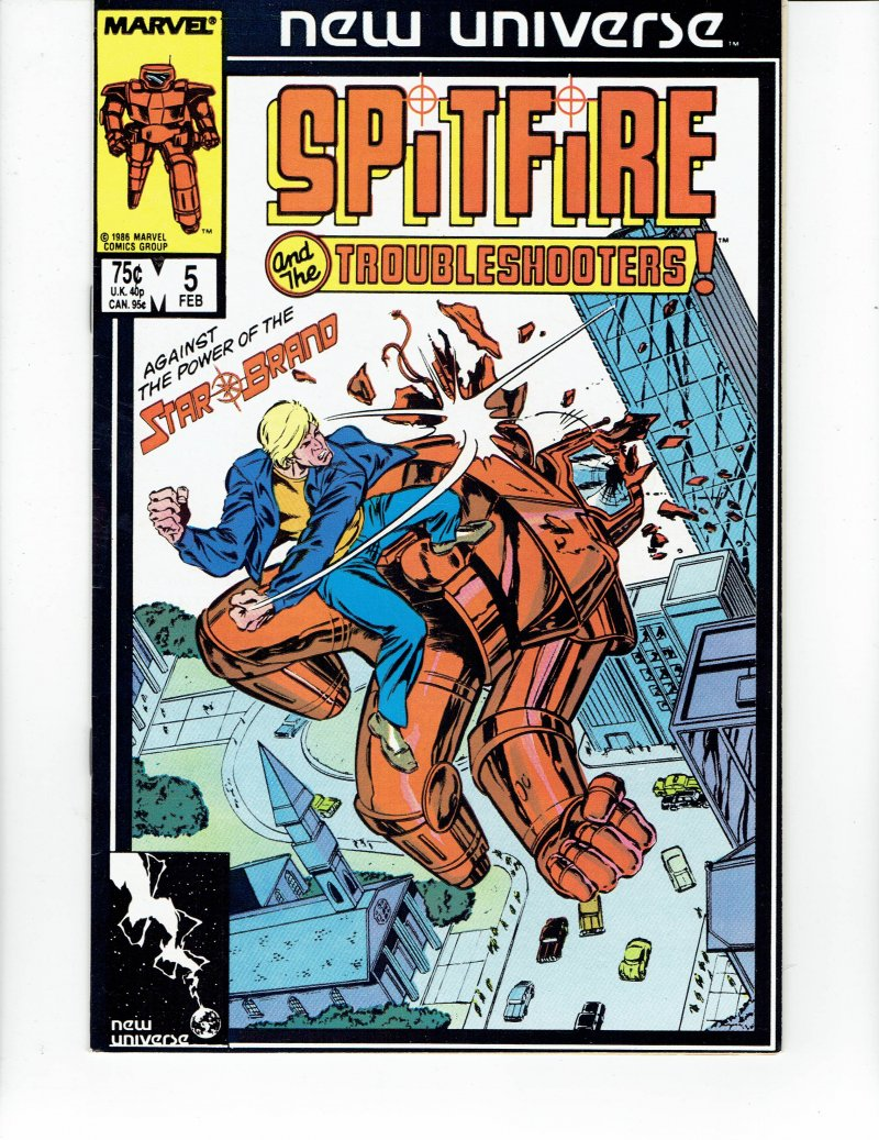 Image 0 of Spitfire And the Troubleshooters #5 Feb 1987 Marvel Comic