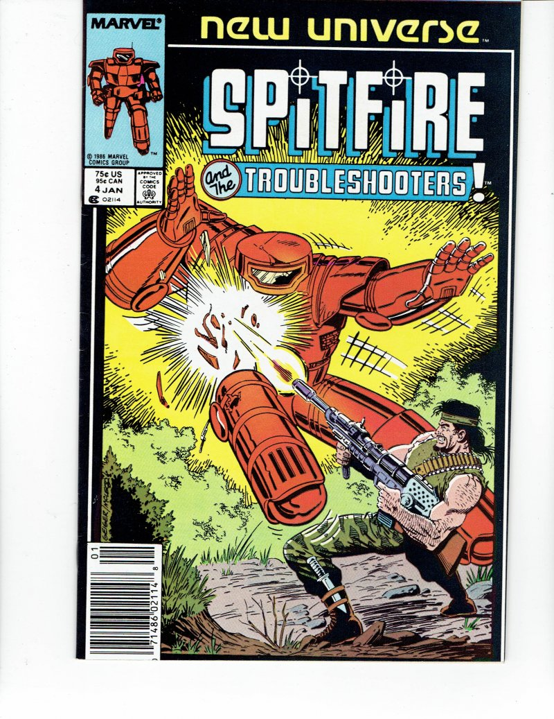 Image 0 of Spitfire And the Troubleshooters #4 Jan 1987 Marvel Comic