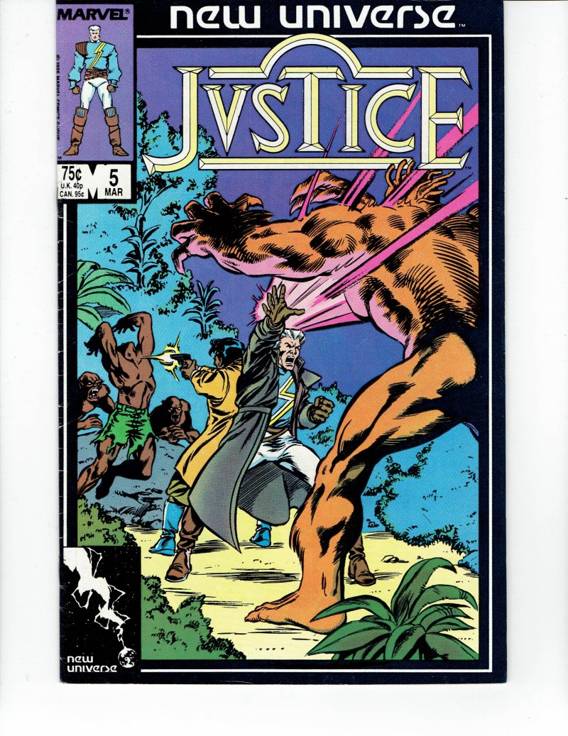 Image 0 of Justice #5 March 1987 Marvel Comic