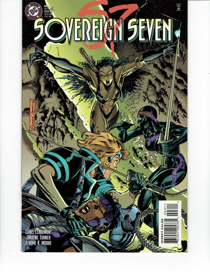 Image 0 of Sovereign Seven #3 Sept 1995 DC Comic