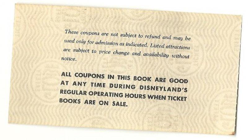 Image 1 of Vintage Disneyland Adult C attraction Used ticket Rare