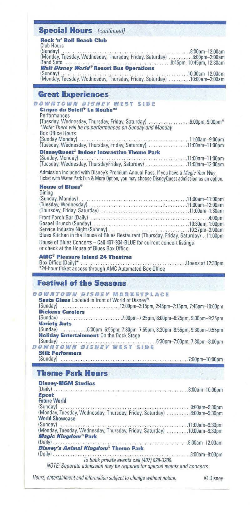 Image 1 of 2006 walt disney world Downtown Disney Times guide Flyer Dec 24-30