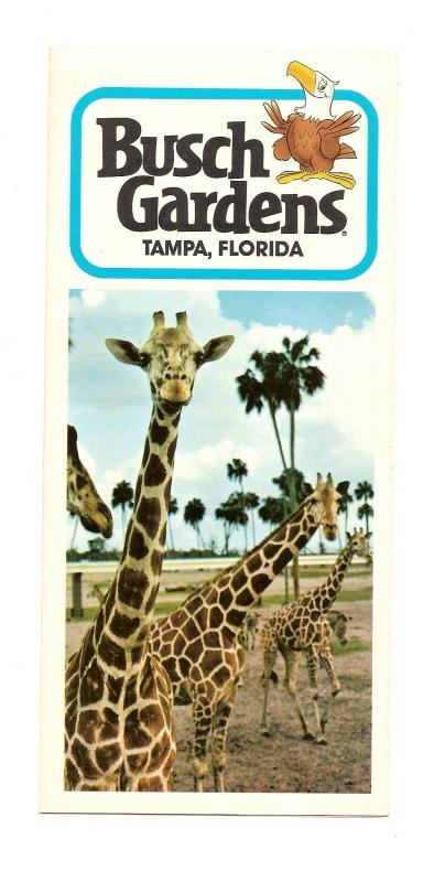 Image 0 of 1974 Busch Gardens Tampa Fold out Souvenir park Map & Guide