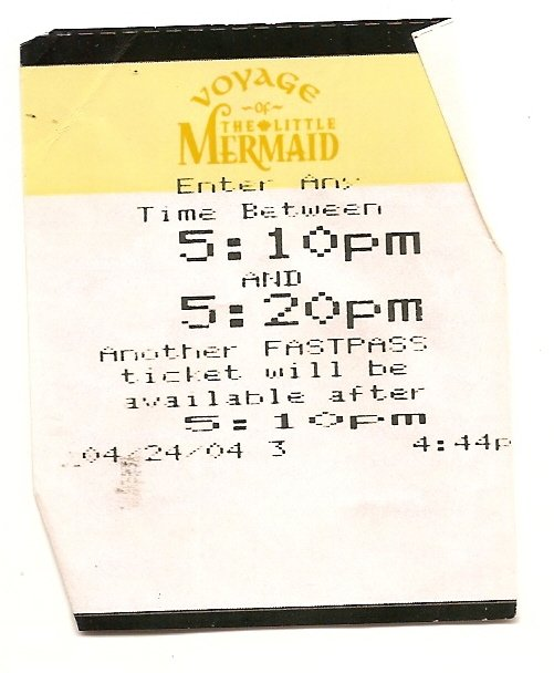 Image 0 of voyage of the little mermaid fastpass