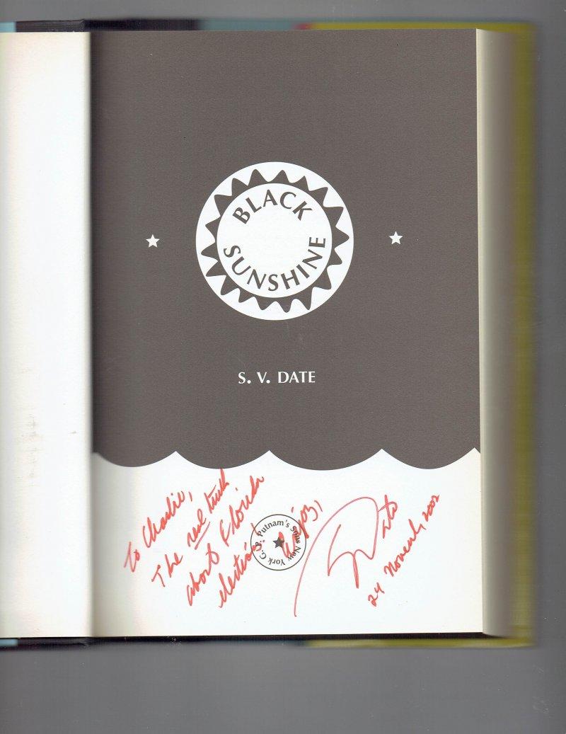 Image 0 of Black Sunshine by S. V. Date (2002, Hardcover) Signed Book