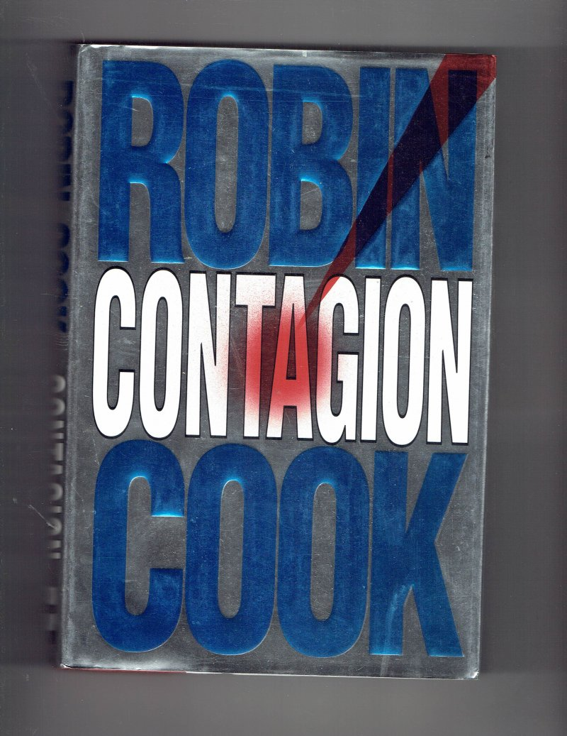 Image 1 of Contagion by Robin Cook (1996, Hardcover) Signed Autographed Book