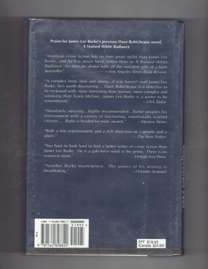 Image 3 of In the Electric Mist with Confederate Dead by James Lee Burke Signed Book