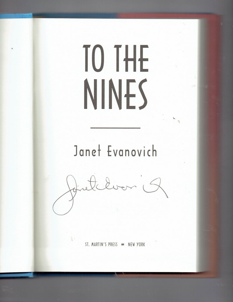 Image 0 of Stephanie Plum To the Nines 9 by Janet Evanovich Signed Autographed HC
