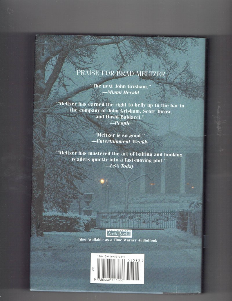 Image 2 of The First Counsel by Brad Meltzer (2001, Hardcover) Signed Book