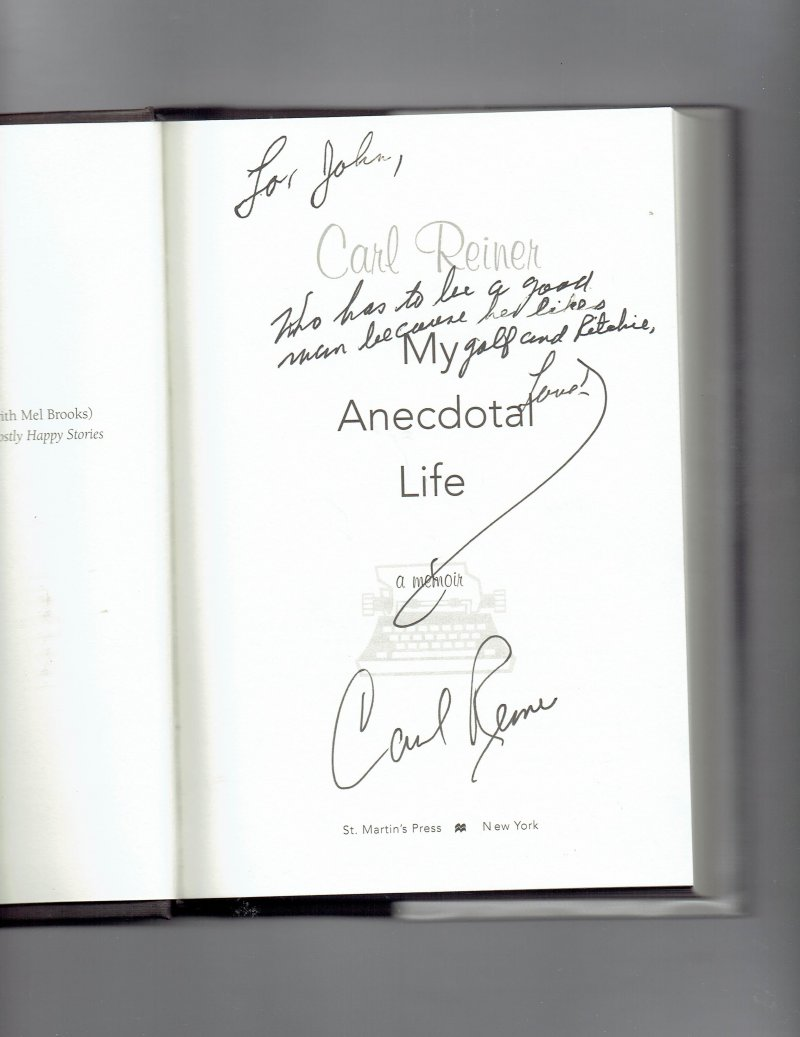 Image 0 of My Anecdotal Life  A Memoir by Carl Reiner (2003, Hardcover, Revised) Signed Boo