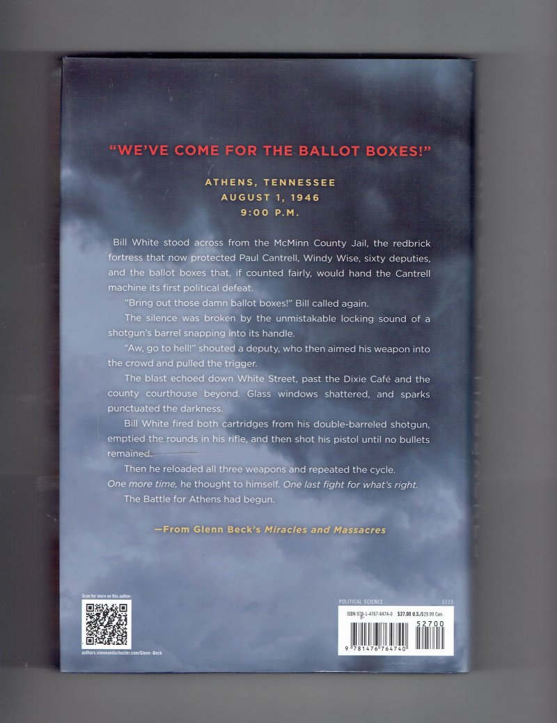 Image 3 of Miracles and Massacres by Glenn Beck Signed Autographed HC Book
