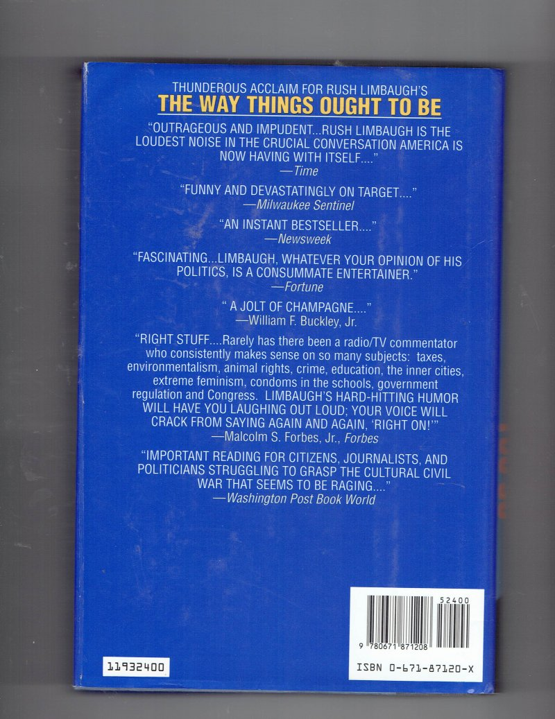 Image 2 of See, I Told You So by Rush H., III Limbaugh (1993, Hardcover) Signed Autographed