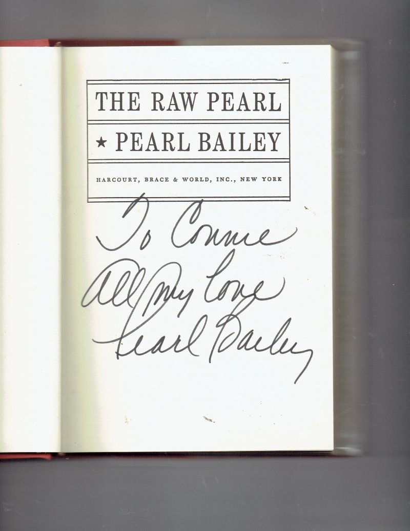 Image 0 of The Raw Pearl by Pearl Bailey (1968, Hardcover) Signed Autographed Rare HTF