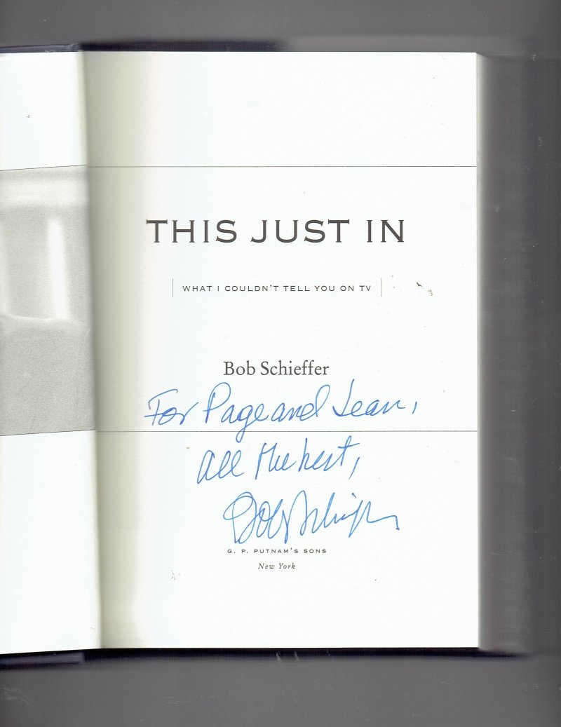 Image 0 of This Just In What I Couldn't Tell You on TV by Bob Schieffer Signed Autographed