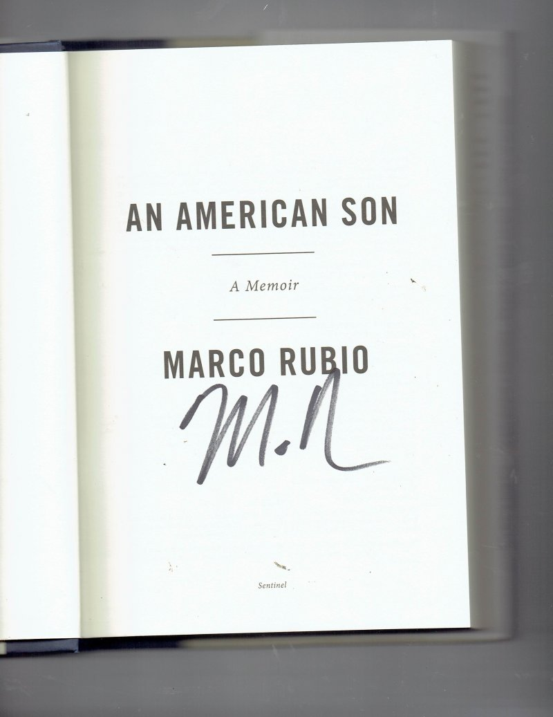 Image 0 of An American Son by Marco Rubio (2012, Hardcover) Signed Autographed Senator
