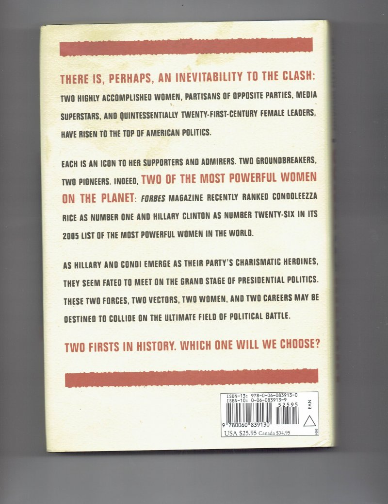 Image 2 of Condi vs. Hillary The Next Great Presidential Race by Dick Morris Signed Book