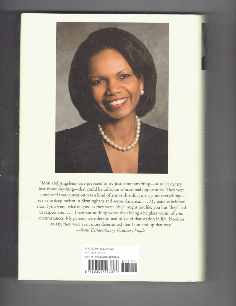 Image 2 of Extraordinary, Ordinary People A Memoir of Family by Condoleezza Rice Signed