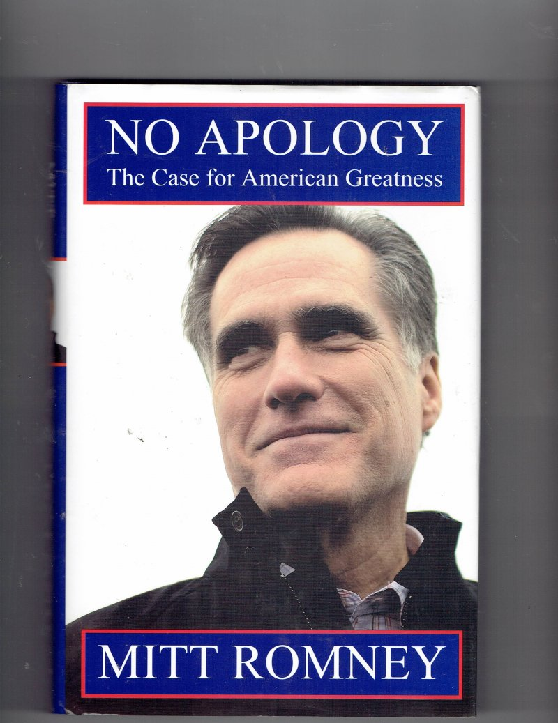 Image 1 of No Apology  The Case for American Greatness by Mitt Romney Signed Autographed