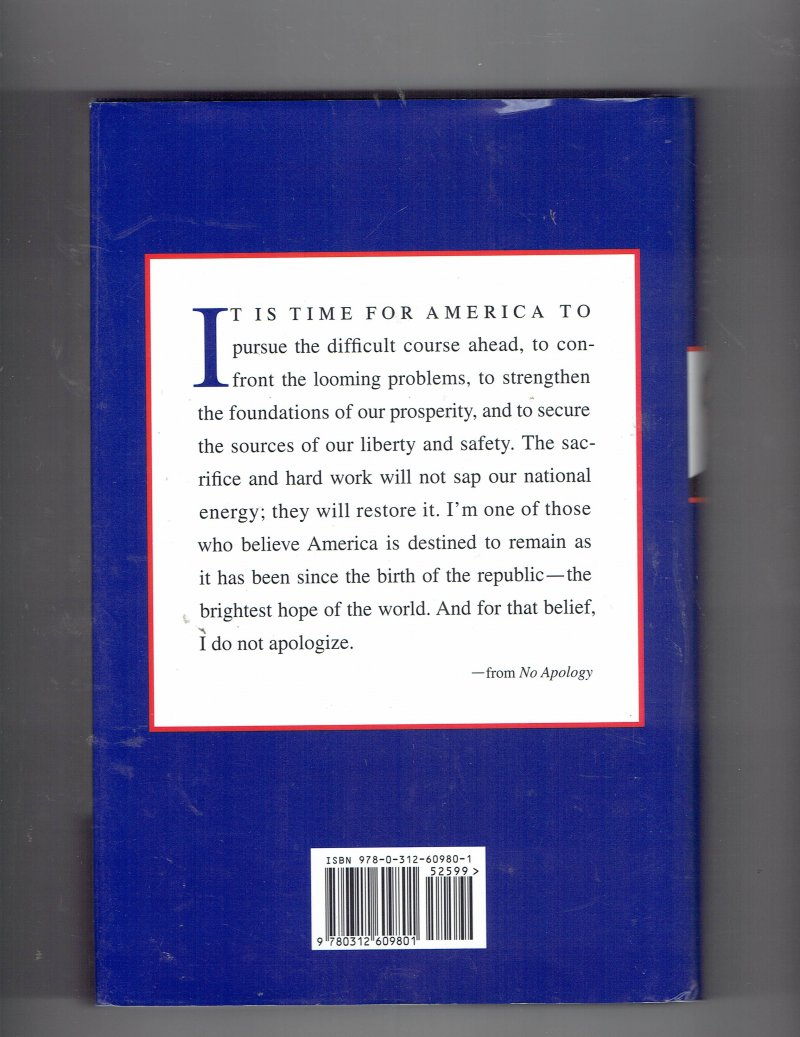 Image 2 of No Apology  The Case for American Greatness by Mitt Romney Signed Autographed