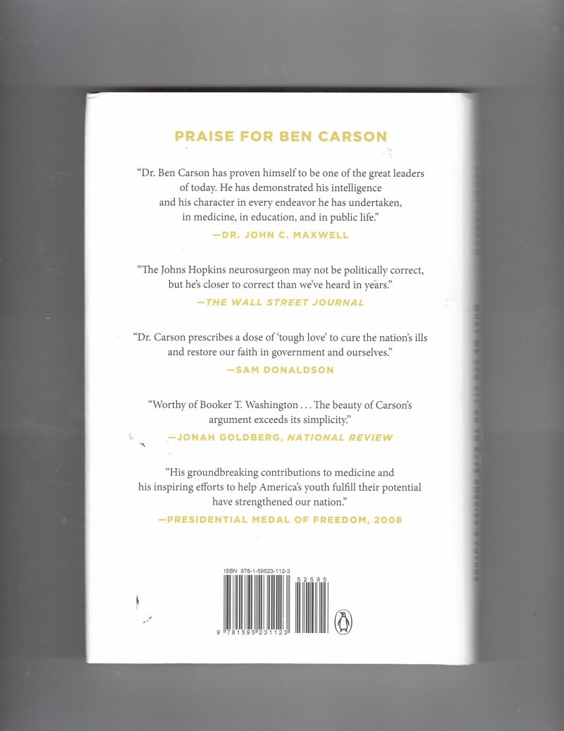 Image 2 of One Nation  What We Can All Do to Save America's Future by Ben Carson Signed