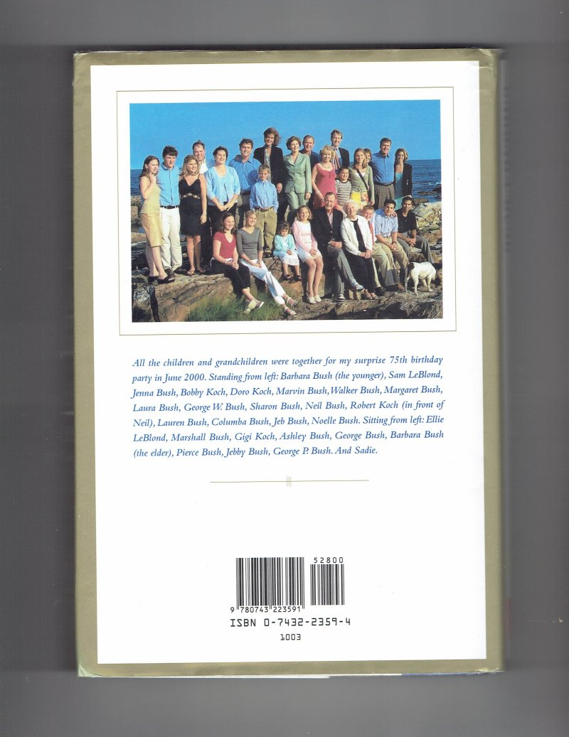 Image 3 of Reflections Life after the White House by Barbara Bush (2003, Hardcover) Signed