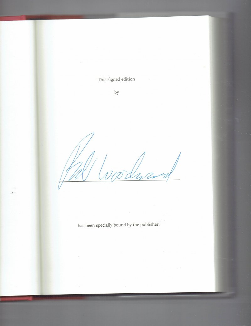Image 0 of The Last of the President's Men by Bob Woodward (2015, Hardcover) Signed