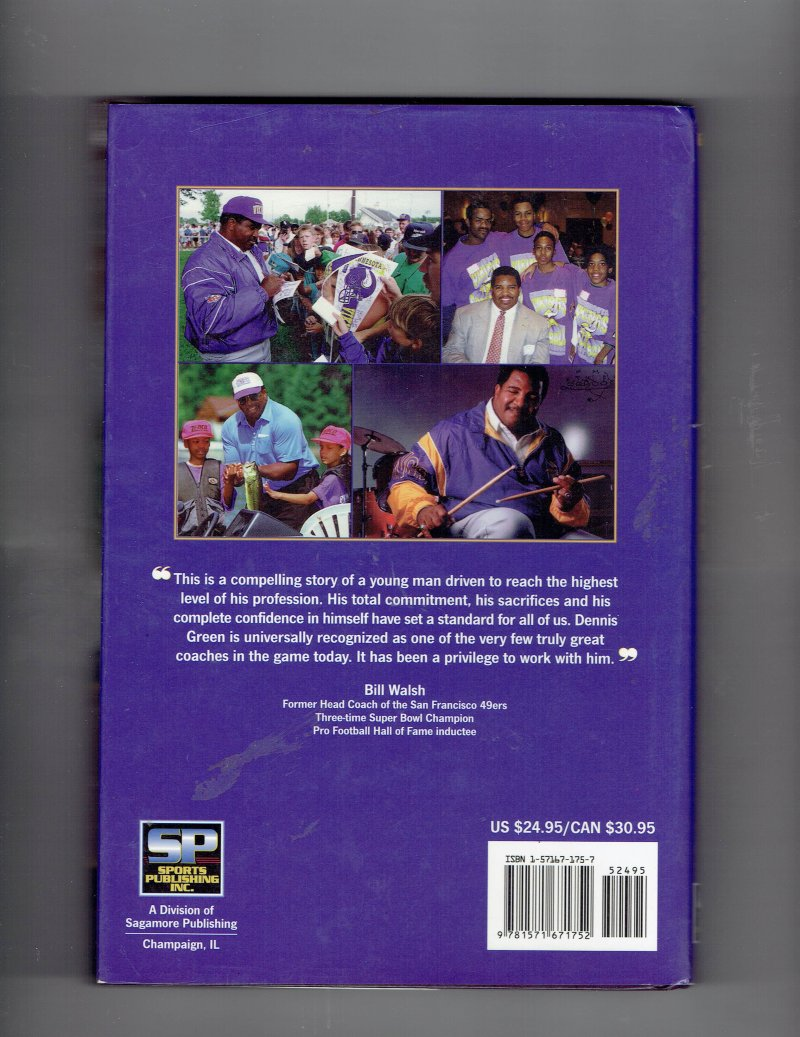 Image 3 of Dennis Green No Room for Crybabies by Dennis Green (1997, Hardcover) Signed