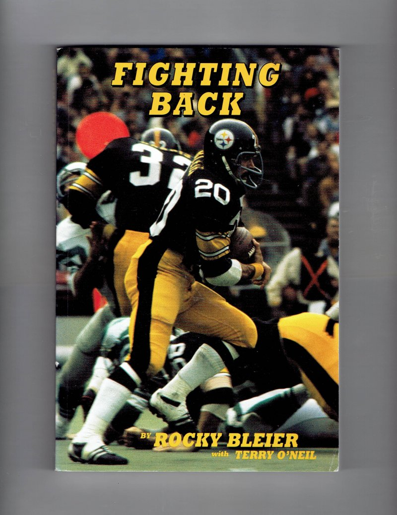 Image 1 of Fighting Back by Rocky Bleier (1980, Paperback) Signed 4x SB Champ Steelers