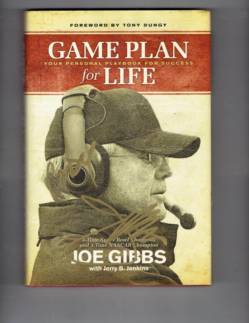 Image 1 of Game Plan for Life : Your Personal Playbook for Success by Joe Gibbs Signed HC