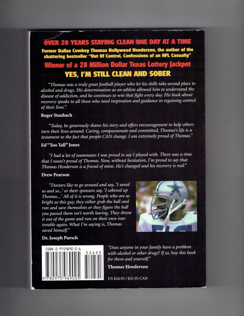 Image 2 of In Control  The Rebirth of an NFL Legend by Thomas Henderson SIGNED