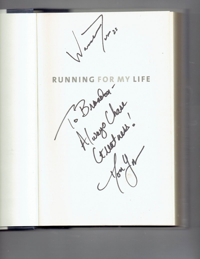 Image 0 of Running for My Life by Don Yaeger & Warrick Dunn (2008, Hardcover) Signed