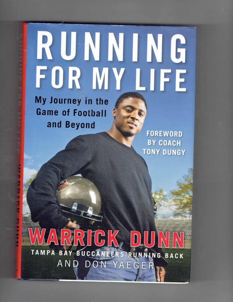 Image 1 of Running for My Life by Don Yaeger & Warrick Dunn (2008, Hardcover) Signed