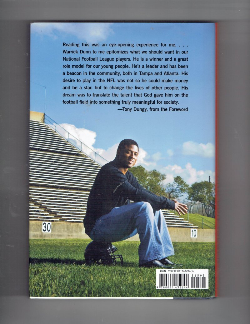 Image 2 of Running for My Life by Don Yaeger & Warrick Dunn (2008, Hardcover) Signed