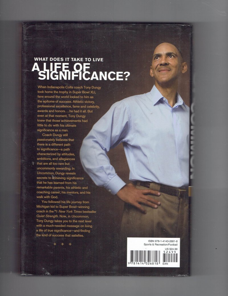 Image 2 of Uncommon Finding Your Path to Significance by Tony Dungy Signed book Super Bowl
